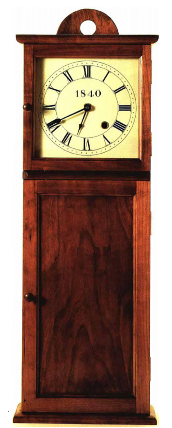Shaker style clock finewoodworking synopsisthis cherry and pine clock case accommodates a modern quartz movement this shaker clock philip c lowe built is a little smaller than the original amipublicfo Image collections