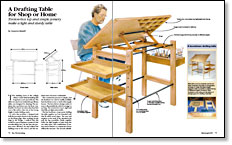 Cameron Russell Knockdown Drafting Table Makes A Good Beginneru0027s Project.  The Table Is Comfortable To Use, And Has Accessory Trays That Attach To The  Legs ...
