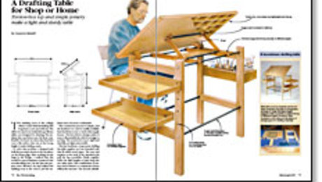 A Drafting Table For Shop Or Home Finewoodworking