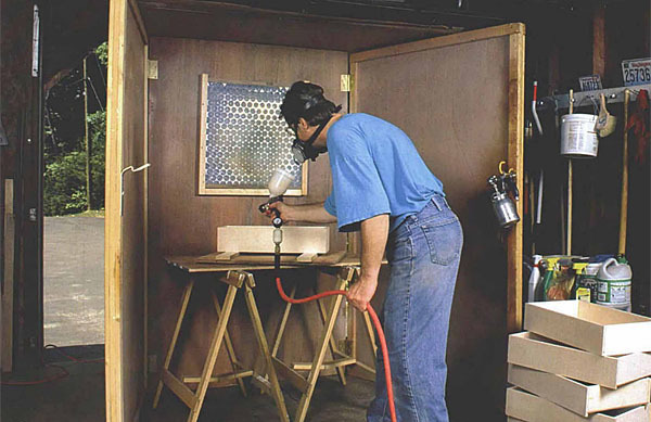 High Pressure Spray Booth : A low cost spray booth finewoodworking