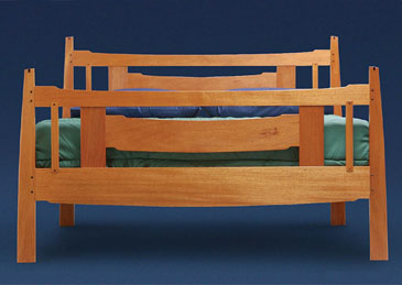 Arts and crafts bed plans finewoodworking for Arts and crafts bed plans