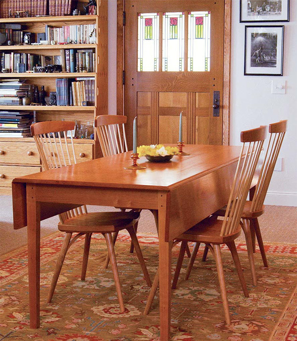 Synopsis Build A Classic Shaker Drop Leaf Dining Table With Detailed Project Plans And Step By Instruction From Christian Becksvoort