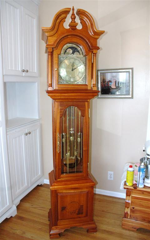 Grandfather clock wedding gift finewoodworking - Grandfather clock blueprints ...