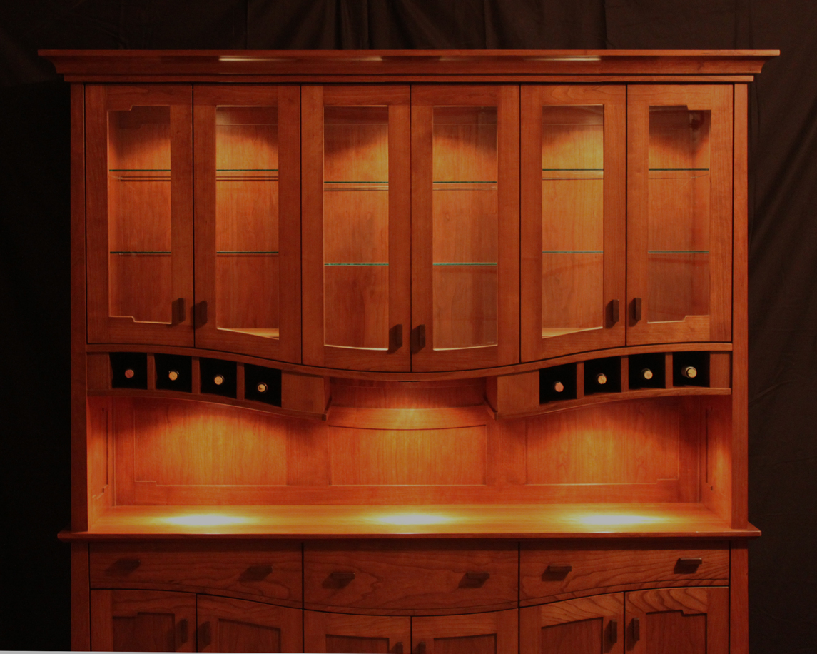 China hutch finewoodworking for Wood hutch plans