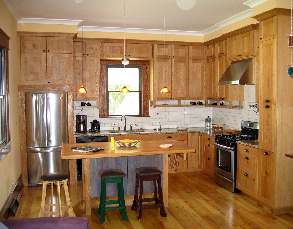 Mission Oak Kitchen Cabinets Formal Mission Kitchen Finewoodworking