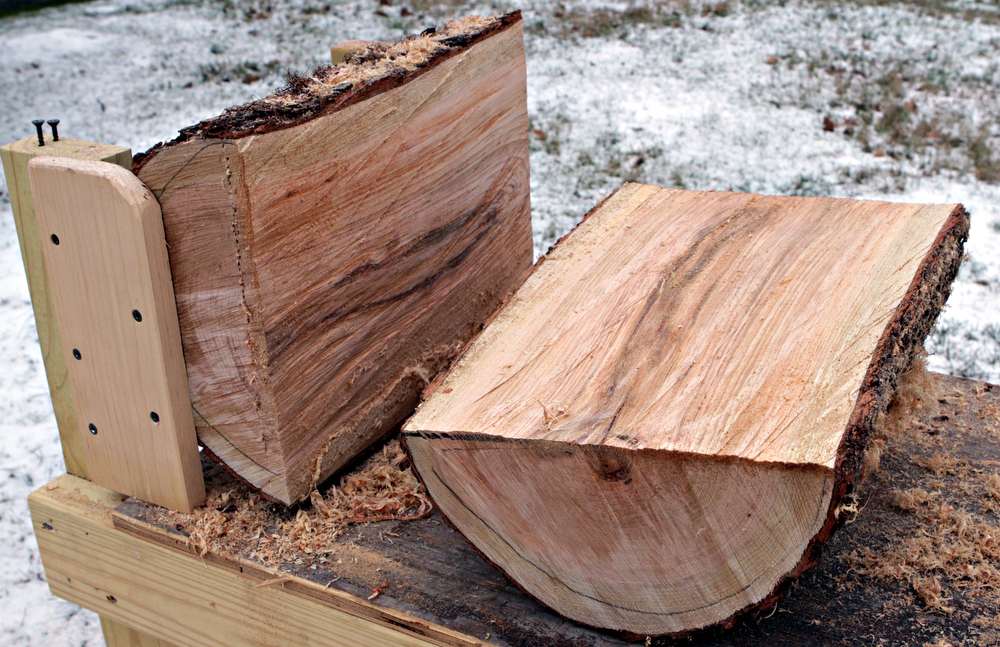 Cut Wood Logs ~ Cutting bench makes it easy to convert fresh cut logs into