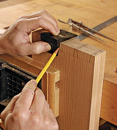 Laying out dovetails
