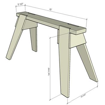 Build a Classic Sawhorse