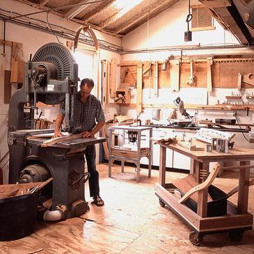 Brian Boggs in his shop