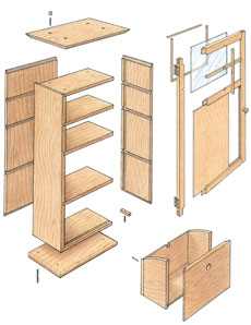 Weekend project build a craftsman wall cabinet for Craftsman cabinet plans