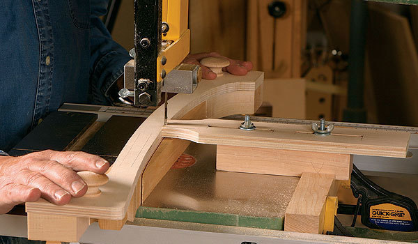 A Bandsaw Jig for Repeatable Complex Curves - FineWoodworking