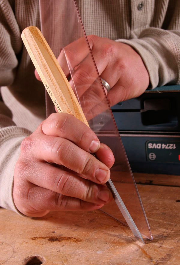 sharpening skew chisel