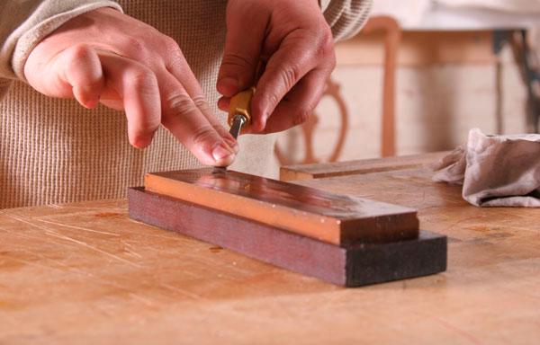 sharpening skew chisel