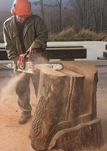 howard werner chainsaw furniture