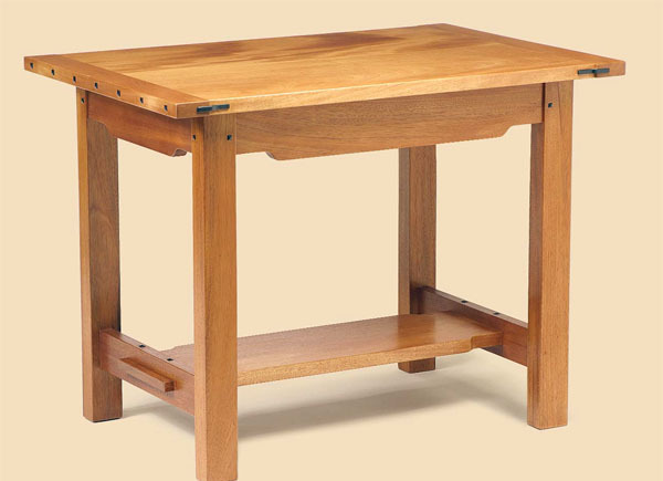 ... Mahogany Side Table That Embodies The Details And Construction  Techniques Practiced By Prolific Furniture Designing Brothers Charles And  Henry Greene In ...