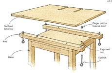 adjustable outfeed table
