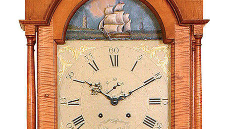 Attractive Details Of A Pennsylvania Tall Case Clock