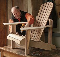 Assembling an Adirondack Chair