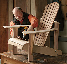 Assembling an Adirondack Chair