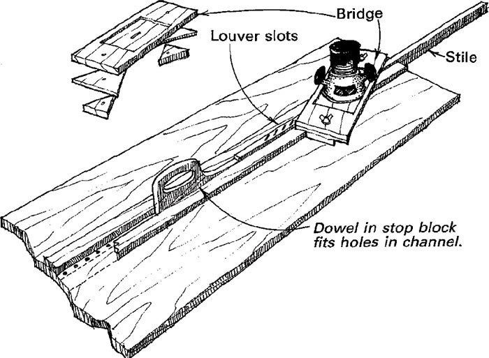how to make a louver jig