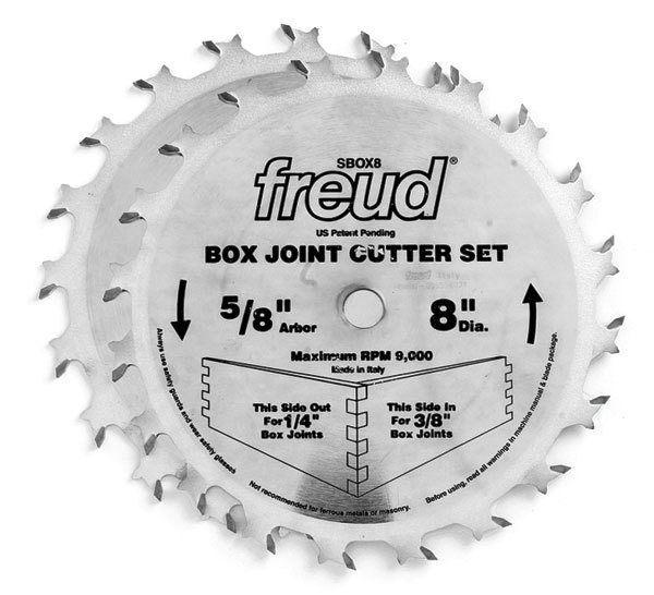 freud blades. with this box-joint cutter set from freud, you can get precise, flat-bottomed cuts every time little fuss. the comes two carbide-tipped blades freud