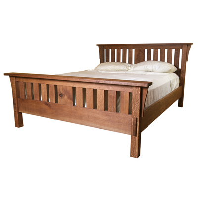 Our favorite arts and crafts project plans finewoodworking for Mission style bed frame plans