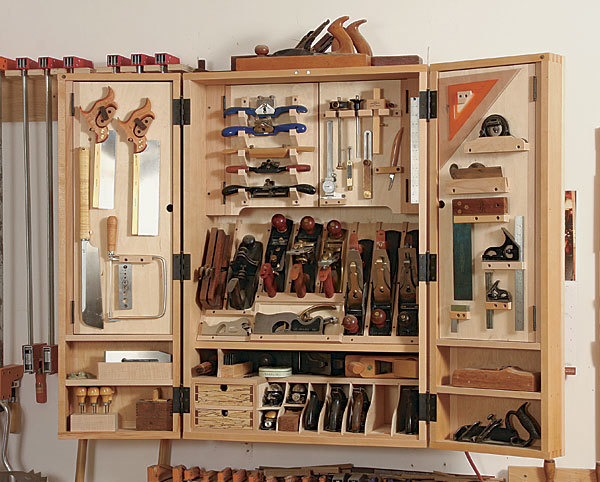 A cabinet for hand tools finewoodworking for Cabinet design tool