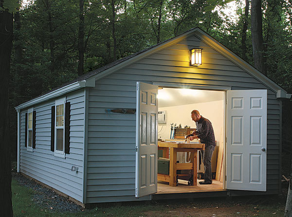 Exceptional Consider What Ken St. Onge Did When He Needed Shop Space: He Bought A  Prefabricated Shed And Converted It Into His Full Time Woodshop.
