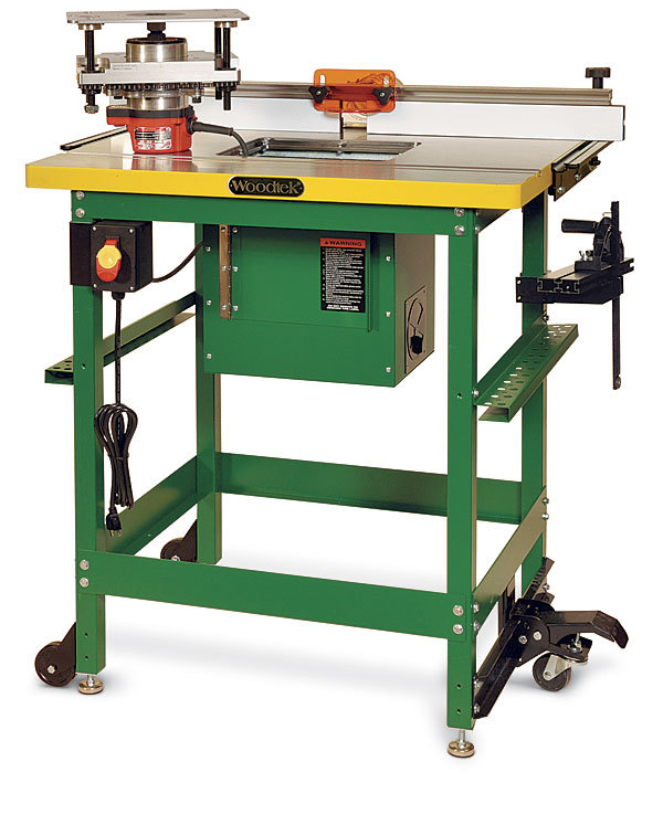 router table has a great lift and dust collection