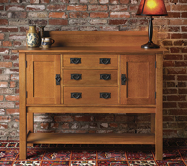 Arts and crafts sideboard finewoodworking for Arts and crafts for sale