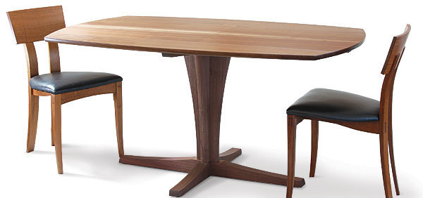 fine woodworking dining room tables. one of the great things about a pedestal dining table is that it lacks four legs routinely get in way when trying to arrange chairs for diners. fine woodworking room tables
