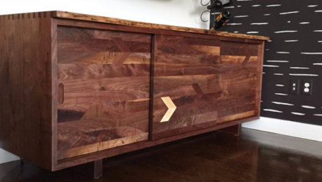 Live edge walnut record player cabinet, media cabinet - FineWoodworking