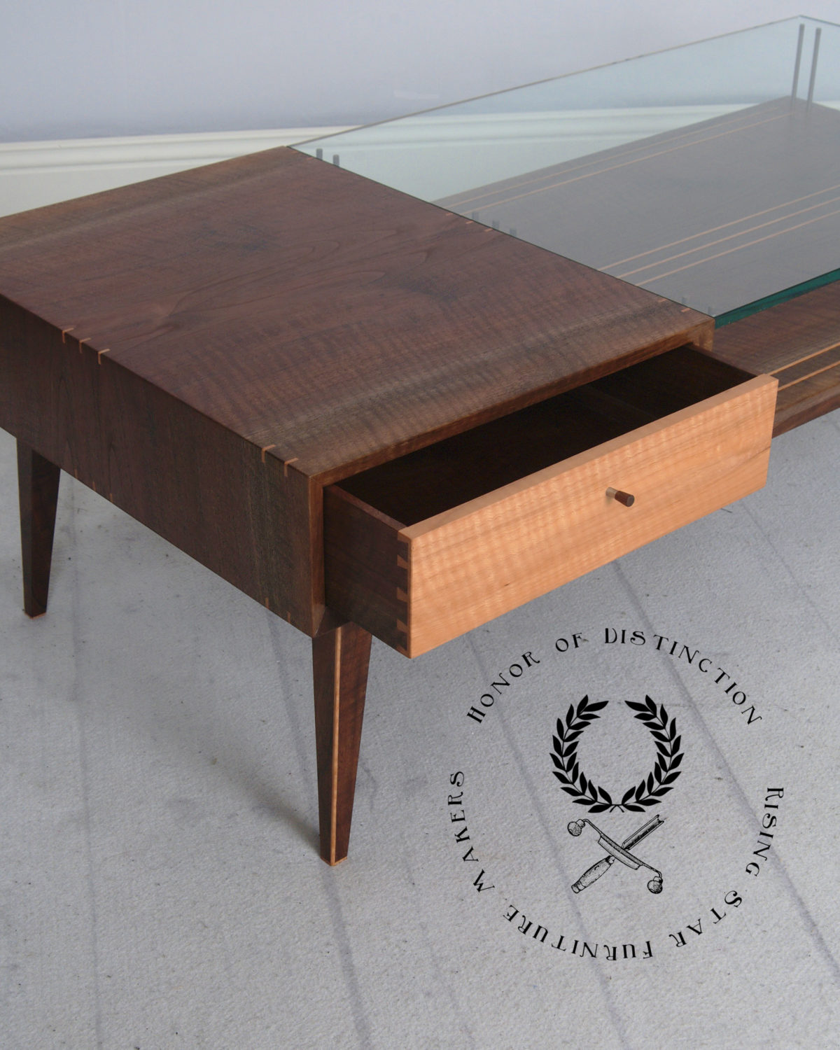 Mid Century Modern Coffee Table With Planter: Modern Mid Century Modern Coffee Table