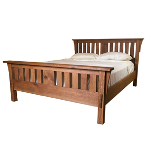 Build a mission style bed finewoodworking for Mission style bed frame plans