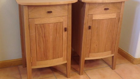 Curved front cherry bedside tables - Nightstand - FineWoodworking