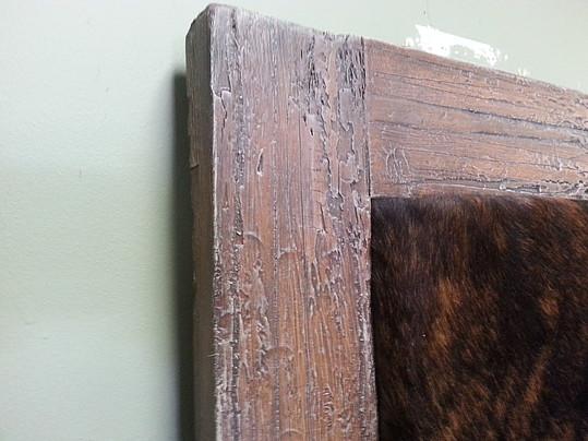 faux wood frame  cowhide headboard  finewoodworking, Headboard designs