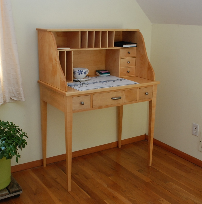 Simple Curly Cherry Desk  FineWoodworking