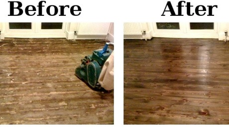 Before and After Photos - The best way to appriciate floor sanding