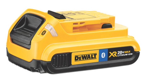 DeWalt's new line of 20V bluetooth-enabled batteries are available in 2.0 amp and 4.0 amp models.