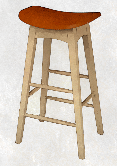 Stools Commonly Have Legs That Are Splayed In Both Directions: Raked And  Splayed. Drawing Legs At These Compound Angles In SketchUp Can Be A Bit  Challenging ...
