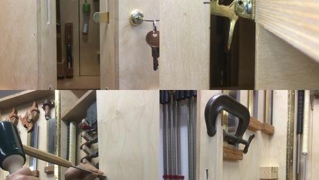 Tool Cabinet Front Door Lock
