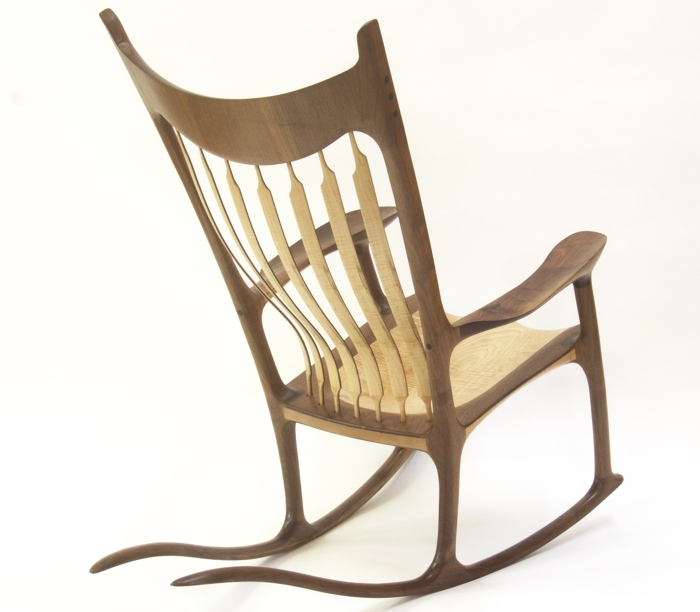 Rocking chair - Walnut & Curly Maple - FineWoodworking