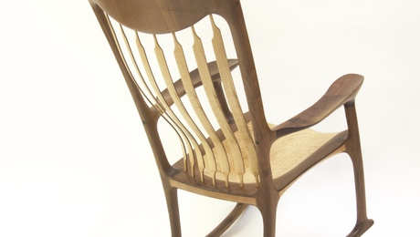 Sculpted Rocking Chair - Walnut & Curly Maple