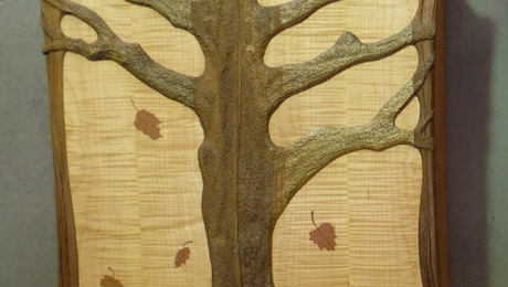 Tree carved tool cabinet