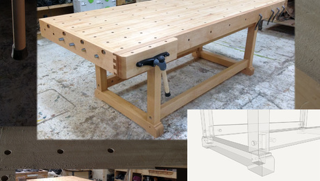 "Workbench: Maple, 44"" x 103"" Vises: Lee Valley"