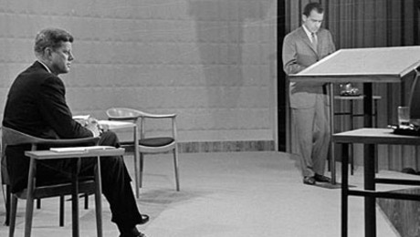 The chair was selected to adorn the set of the first presidential debate between Richard Nixon and John F. Kennedy.
