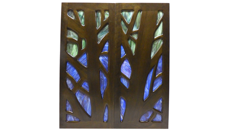 Solid wood and stained glass