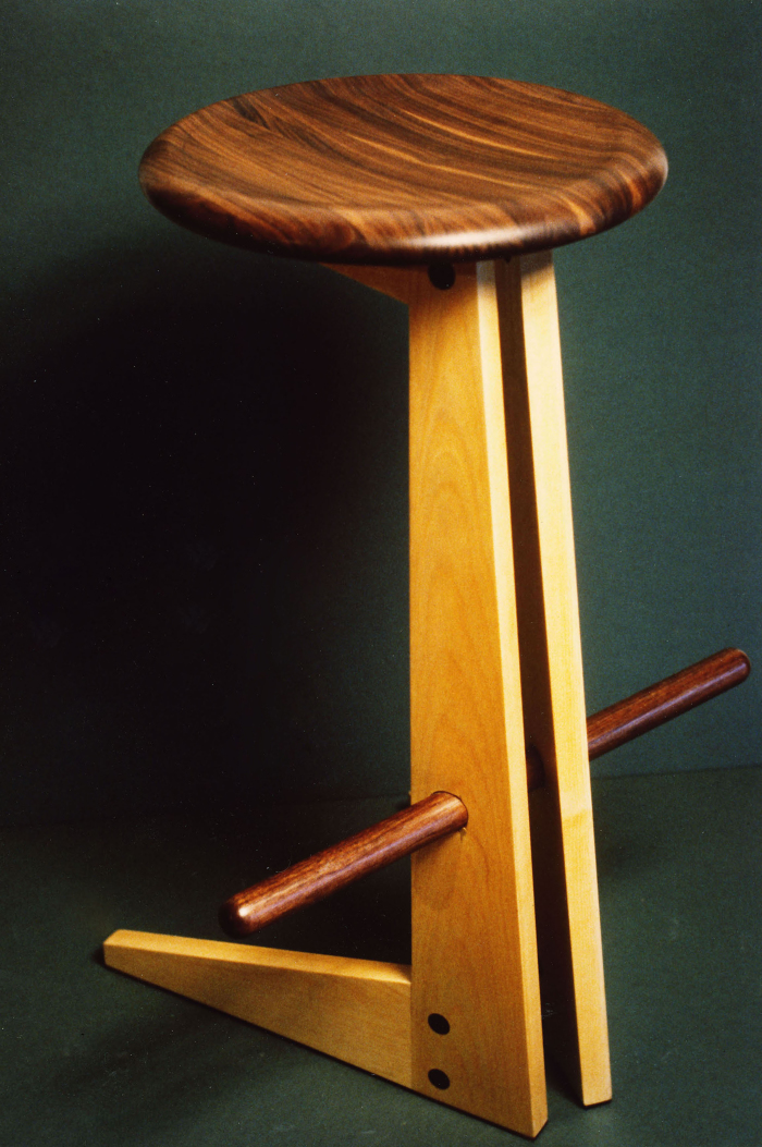 Cantilevered Stool Finewoodworking