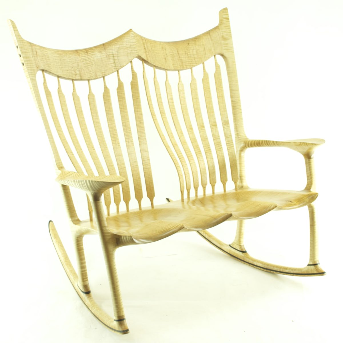 Curly Maple Double Rocking Chair - FineWoodworking