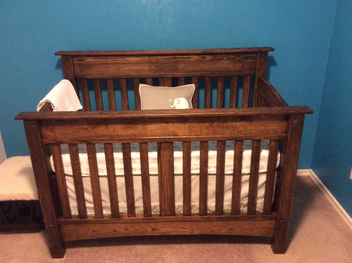 3 In 1 Crib 100 Amish Baby Cribs Amish Furniture Covered Bridge Furnitu 100 Baby Crib 3 In 1